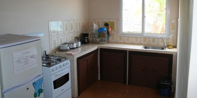 cuisine quip e de l 39 appartement hotel residence au sable blanc. Black Bedroom Furniture Sets. Home Design Ideas